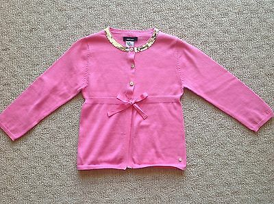 Girls Fred Bare Pink Cardigan Size 4 - Sequin Detail