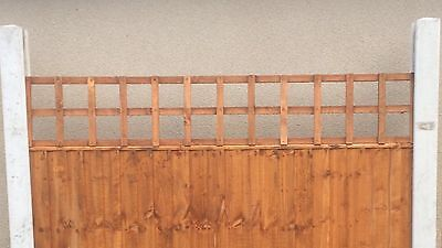 6x1 Heavy Duty Squared Trellis Fence Topper Lattice GOLDEN Wood RRP £15