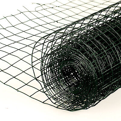 4m x 90cm PVC Coated Galvanised Netting Chicken Garden Wire Fencing