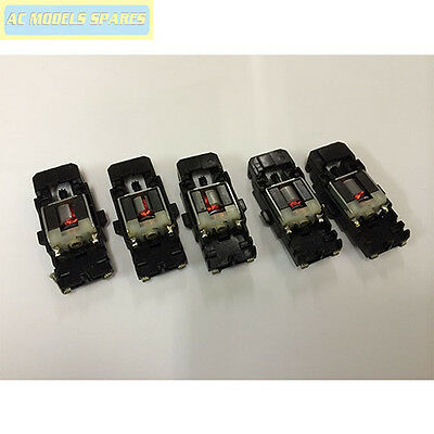 Micro Scalextric Spare Chassis, Motor & Guide x5