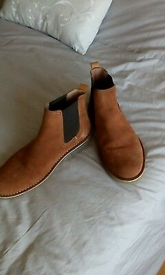 New Mens SOLE Brown Winter Suede Boots Chelsea Elasticated size 9