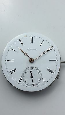 C Charpier Swiss Made Pocketwatch Movement With Dial & Hands