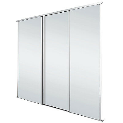 White Frame Mirror Sliding Wardrobe Doors Kit - Free Delivery - 5 Kit Sizes