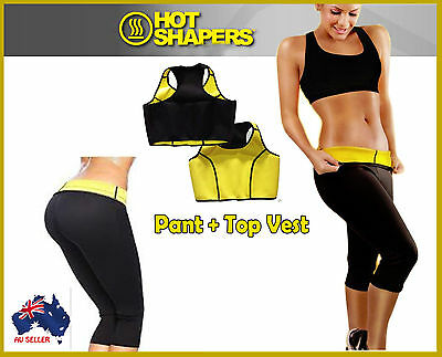 Hot Shapers Slimming Pants Top Vest Thermo Wear Anti Cellulite Capri Weight Loss