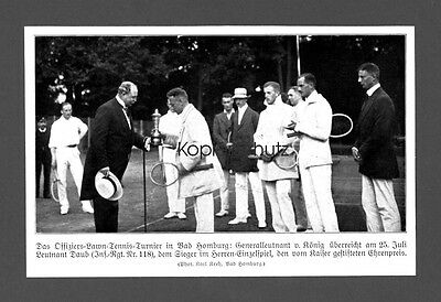 Offiziers-Lawn-Tennis-Turnier Bad Homburg Bilddokument 1913