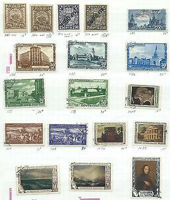 Russia - 18 old stamps mixed - Years 1921 to 1950...including High Value