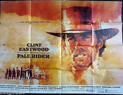 Pale Rider 1985 Cinema Quad Poster Clint Eastwood Richard Kiel