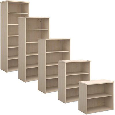 Maple Office Bookcase Shelving - All Sizes