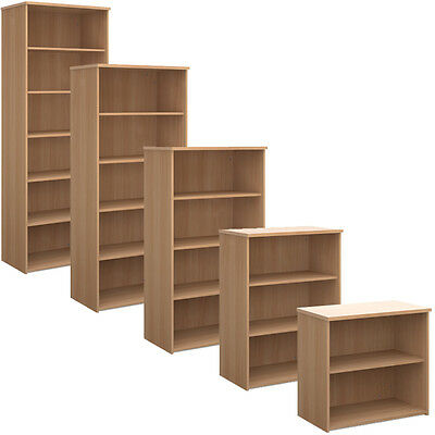 Beech Office Bookcase Shelving - All Sizes