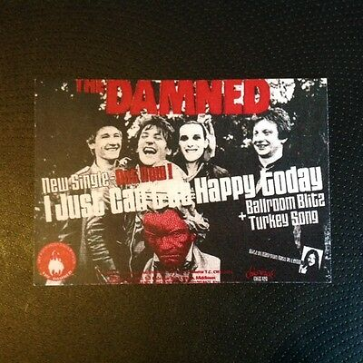 The Damned Just Can't Be Happy Rare Original 1979 Promo Flyer Punk Sex Pistols