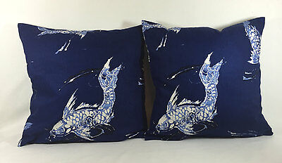 Ralph Lauren Fabric Cushion Cover -Homeport Scenic Harbour - Sur La Cote Fabrics
