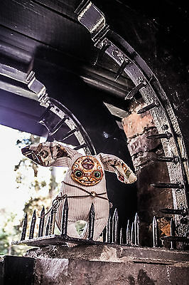 HandMade Collectible Art Toy Steampunk Weird Creepy Doll Totem Amulet