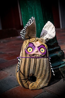 HandMade Collectible Art Toy BeetleJuice Weird Creepy Doll Totem Amulet