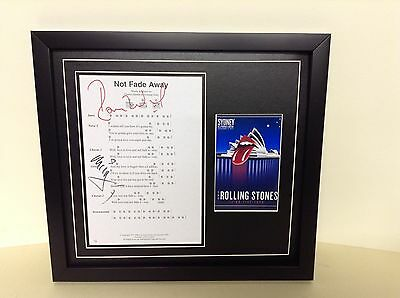 Rolling Stones Signed/Autographed Songsheet with Photo & COA