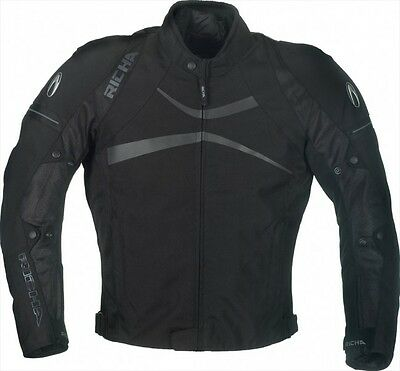 Richa Boomerang Textile Motorcycle Motorbike Waterproof Mesh Jacket Black NEW