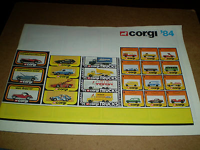 Corgi Trade Toy Catalogue 1984 Uk Edition Excellent Condition For Age