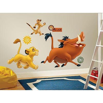 NEW LION KING GIANT WALL DECALS Kids Peel and Stick Bedroom Room Decorations