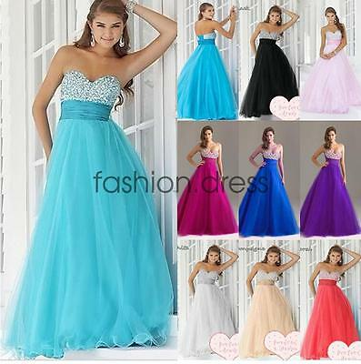 New Long Formal Evening Prom Gown Party Wedding Bridesmaid Dress Stock Size 6-18