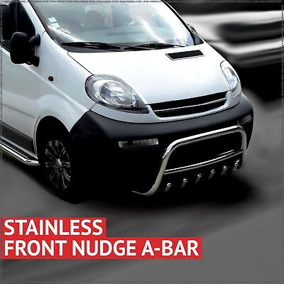Chrome Axle Nudge Bull A-Bar 60mm Stainless Steel for Vauxhall Vivaro  01-14