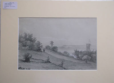 MOUNTED GRAPHITE DRAWING BY JOHN BURGESS 1814-1874 examples in the V.&A.