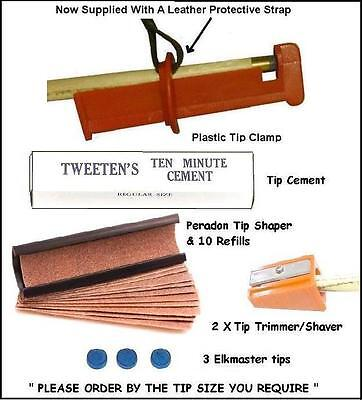 Cue Tip Accessory Kit. Everything Required For Tipping Your Cue. 6 Piece Kit