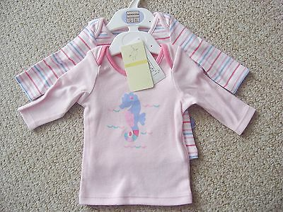 Two Pack Of Girls Pink Long Sleeve T-Shirts From Marks And Spencer Bnwt