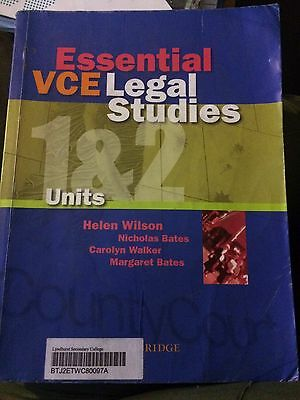 Essential VCE Legal Studies Units 1&2 Second Edition Interactive Textbook by Ca…