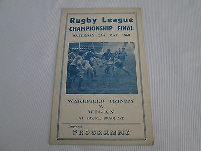 1960 RUGBY LEAGUE FINAL WAKEFIELD TRINITY v WIGAN( PIRATE  TUCK COLLIER WOOD?  )