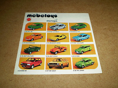 MEBETOYS TOY CATALOGUE 1970's FRENCH EDITION EXCELLENT CONDITION FOR AGE