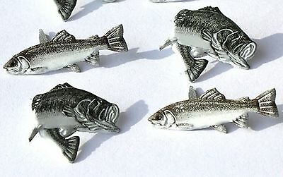 BASS and TROUT BRADS Fishing Sports Scrapbooking Fish Card Making Stamping