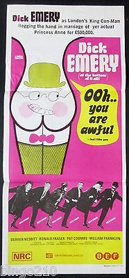 Ooh You Are Awful Original 1972 Daybill Poster Dick Emery Ronald Fraser Comedy