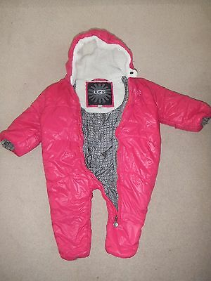Baby Girls Pink Ugg Australia Snowsuit 12-18 months (Coat/Jacket)