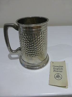 Genuine Pint Size English Pewter Tankard Made in Sheffield