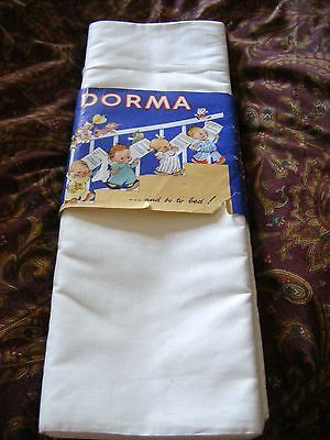 Vintage 1940s Mabel Lucie Attwell Dorma single bed sheets pure cotton