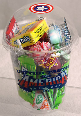 2 x All American Candy USA Smoothie Cup (200g each ) Nerds Taffy Clearance Sale
