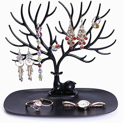 Retro Bird Tree Stand Jewelry Earrings Necklace Ring Show Rack Holder Display AU