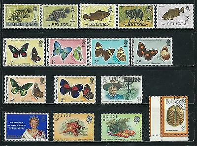 Belize - 16 stamps mixed - Years 1973 to 1988...