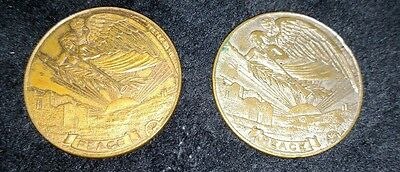 2 WWI Wm. F. Brobst for Lynnville, Pa. 1919 County Treasurer Tokens/Medals