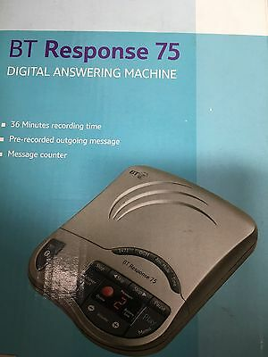 2 BT Response 75 Answer Machines In Metalic Grey
