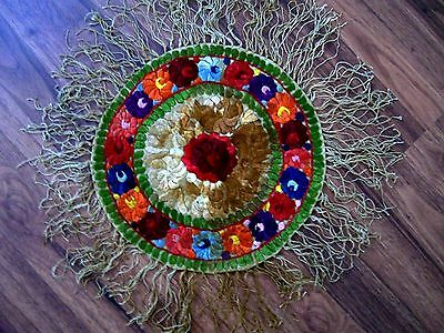 Vintage Matyo Hungarian Embroidery Table Mat