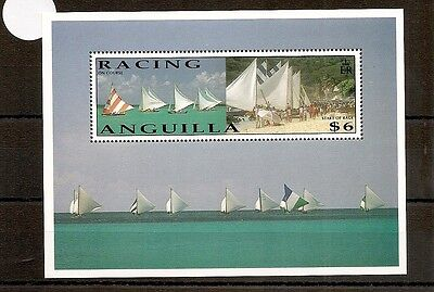 Anguilla 1992 SG896 NHM Sheet Sailing Dinghy Racing-On Course and Start of Race