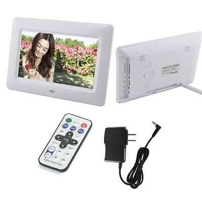 LCD HD Resolution Digital Picture Photo Frame MP3/4 Alarm Remote AU