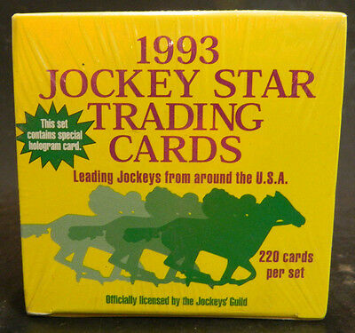 Vintage 1993 Jockey Star Trading Cards Box Factory Sealed New IN Box