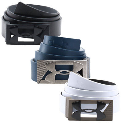 Under Armour Mens PU Leather Reversible Two Tone Buckle Golf Belt