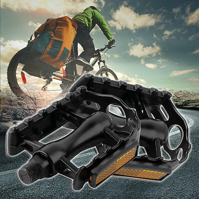 1 Pair Aluminium Alloy Mountain Road Bike Bicycle Cycling 9/16 Pedals Flat AU