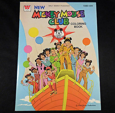 DISNEY 1977 Vintage Whitman Coloring Book, NEW MICKEY MOUSE CLUB,  60 pgs