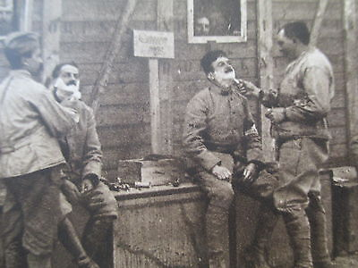 Barbers Shavingfrench Soldiers  In Salonica  War In Balkans  Wwi Period Postcard