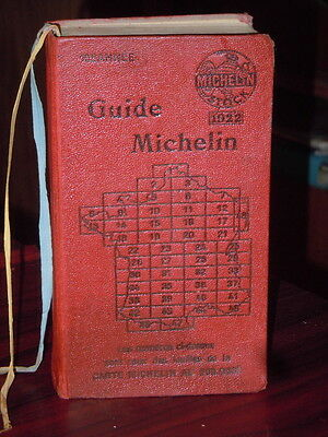 TRES Beau guide rouge  Michelin 1922