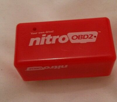 Nitro OBD2 Economy Chip Tuning Box Interface Red Plug and Drive for Diesel Cars