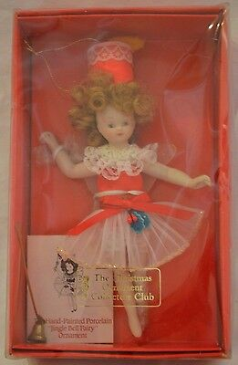 NEW NIB Vintage Christmas Ornament Collector's Club Jingle Bell Fairy Ornament